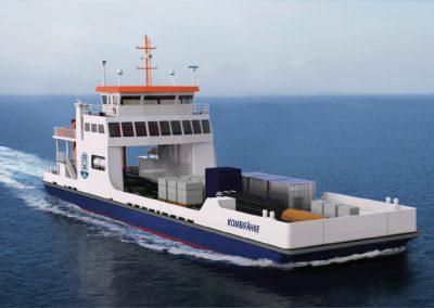 Kombiniertes Fracht- und Fahrgastschiff